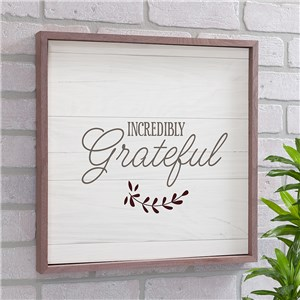 Incredibly Grateful Non Personalized Wall Decor | Wood Pallet Signs