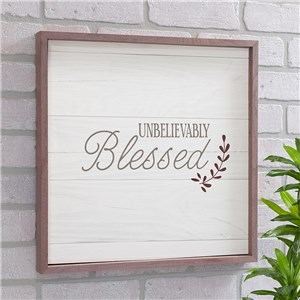 Unbelievably Blessed Non Personalized Wall Decor | Wood Pallet Sign