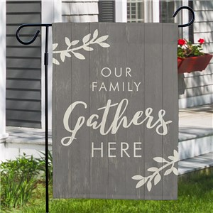 Gather Here Non Personalized Garden Flag | Gather Garden Flag