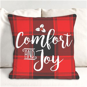 Comfort And Joy Throw Pillow | Christmas Throw Pillows