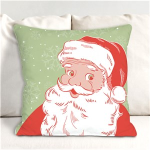 Vintage Santa Christmas Pillow | Retro Santa Christmas Pillow
