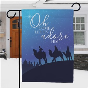 Oh Come Let Us Adore Him Garden Flag NP830136812X