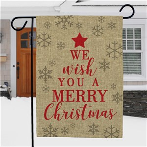 We Wish You A Merry Christmas Burlap Garden Flag NP830137272BX