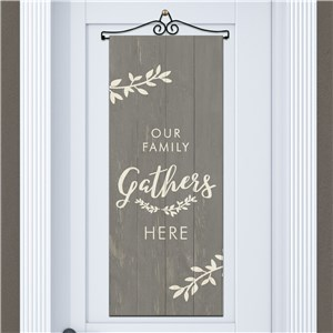 Our Family Gathers Here Door Banner | Family Fall Decor