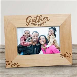 Engraved Gather Wood Frame | Fall Picture Frames