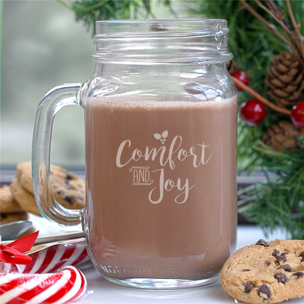 Comfort And Joy Mason Jar | Christmas Mugs