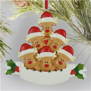 Reindeer Family 6 Head Ornament NPL135952526