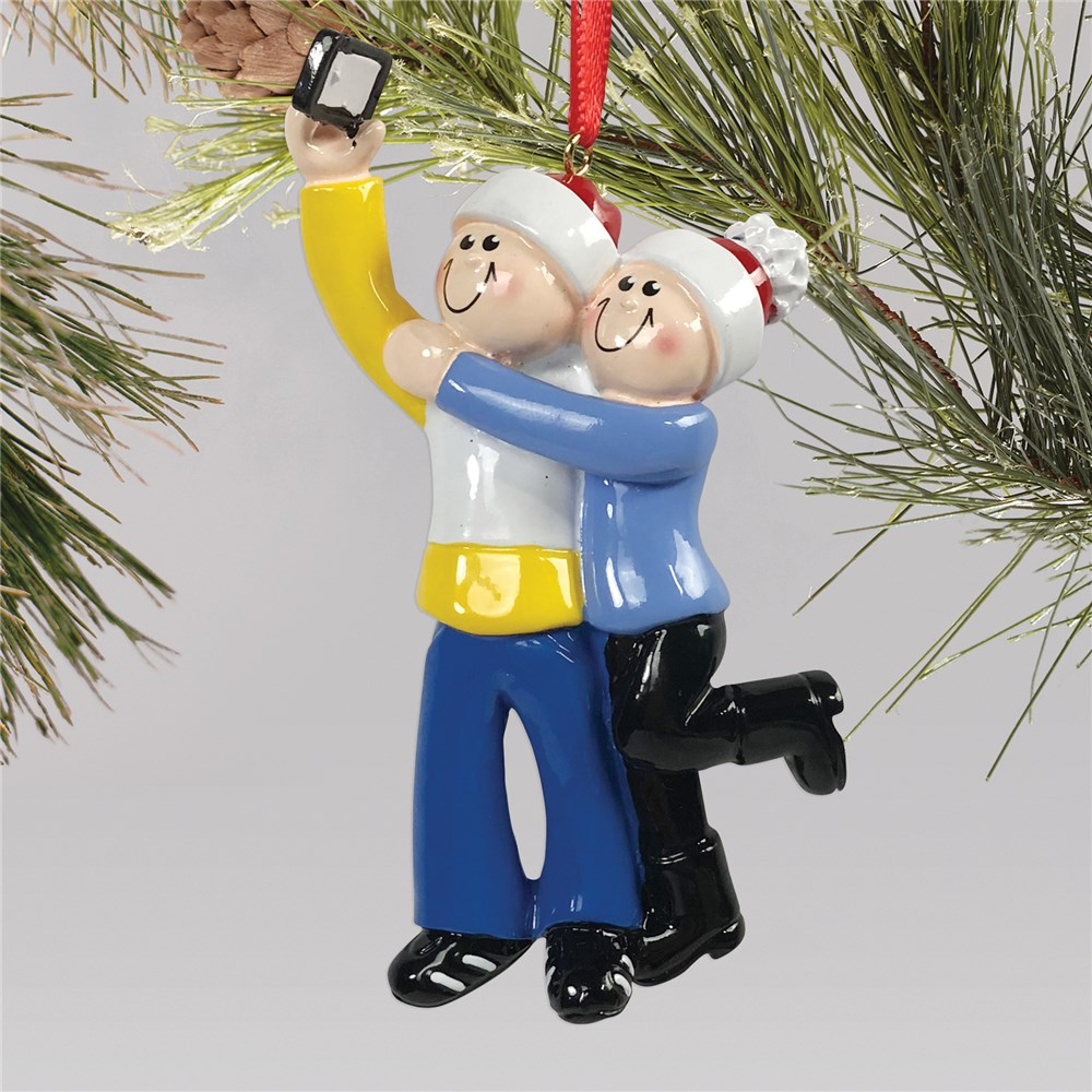 Selfie Couple Christmas Ornament  NPL14039205