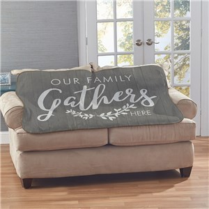 Our Family Gathers Sherpa Blanket | Sherpa Blanket