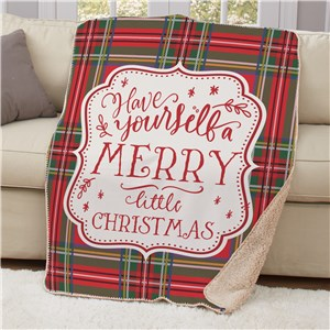 Have Yourself A Merry Little Christmas Sherpa Blanket 50x60 | Christmas Blankets