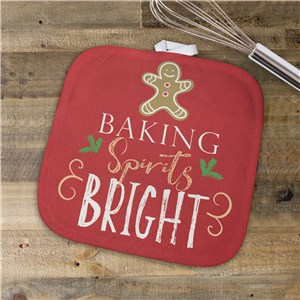 Baking Spirits Bright Pot Holder | Christmas Pot Holders