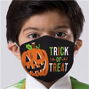 Trick or Treat Pumpkin Youth Face Mask