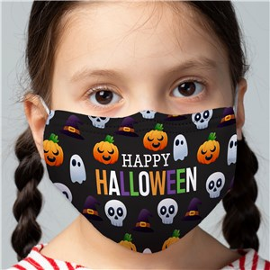 Happy Halloween Pattern Youth Face Mask