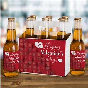 Valentine's Day Beer Carrier | Valentine Beer Labels
