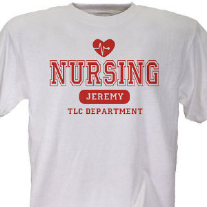 Nursing TLC Personalized Nurse T-Shirt