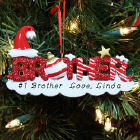 Brother Personalized Christmas Ornament