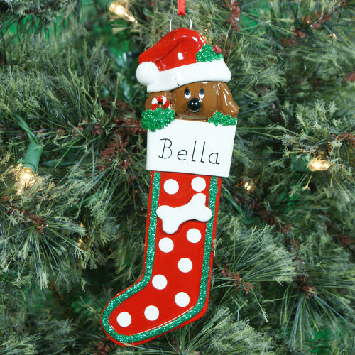 Personalized Dog Stocking Ornament | Personalized Pet Ornaments