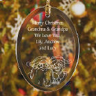 Personalized Grandparents Glass Ornament