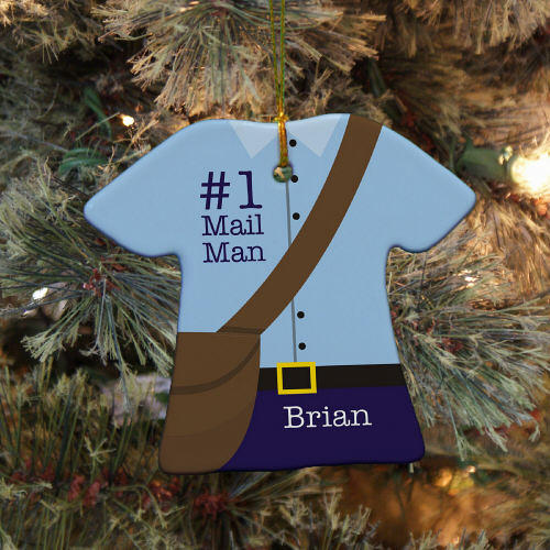 Personalized Ceramic Mail Man T-shirt Ornament U684463
