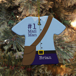 Personalized Ceramic Mail Man Ornament