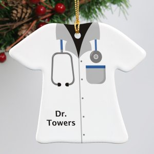 Personalized Ceramic Doctor Ornament