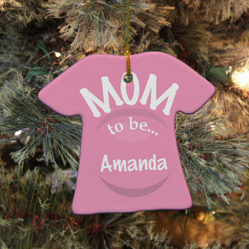Personalized Ceramic New Mom Ornament U684963