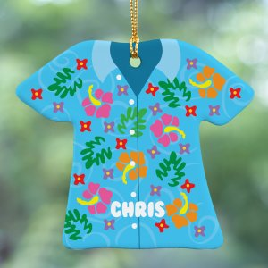 Tropical Shirt Personalized Ornament