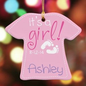 It's A Girl Ornament U796863
