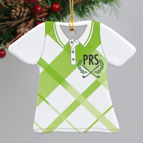 Golf Shirt Ornament | Personalized Golf Ornament