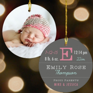 New Arrival Personalized Ornament
