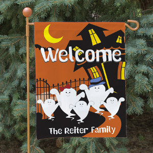Halloween Ghost Family Garden Flag