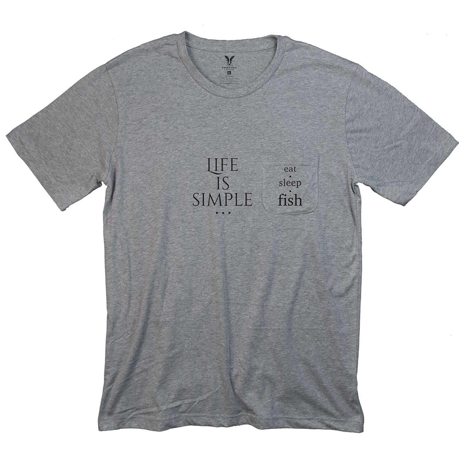 Life Is Simple Fish Pocket T-Shirt PT311294X