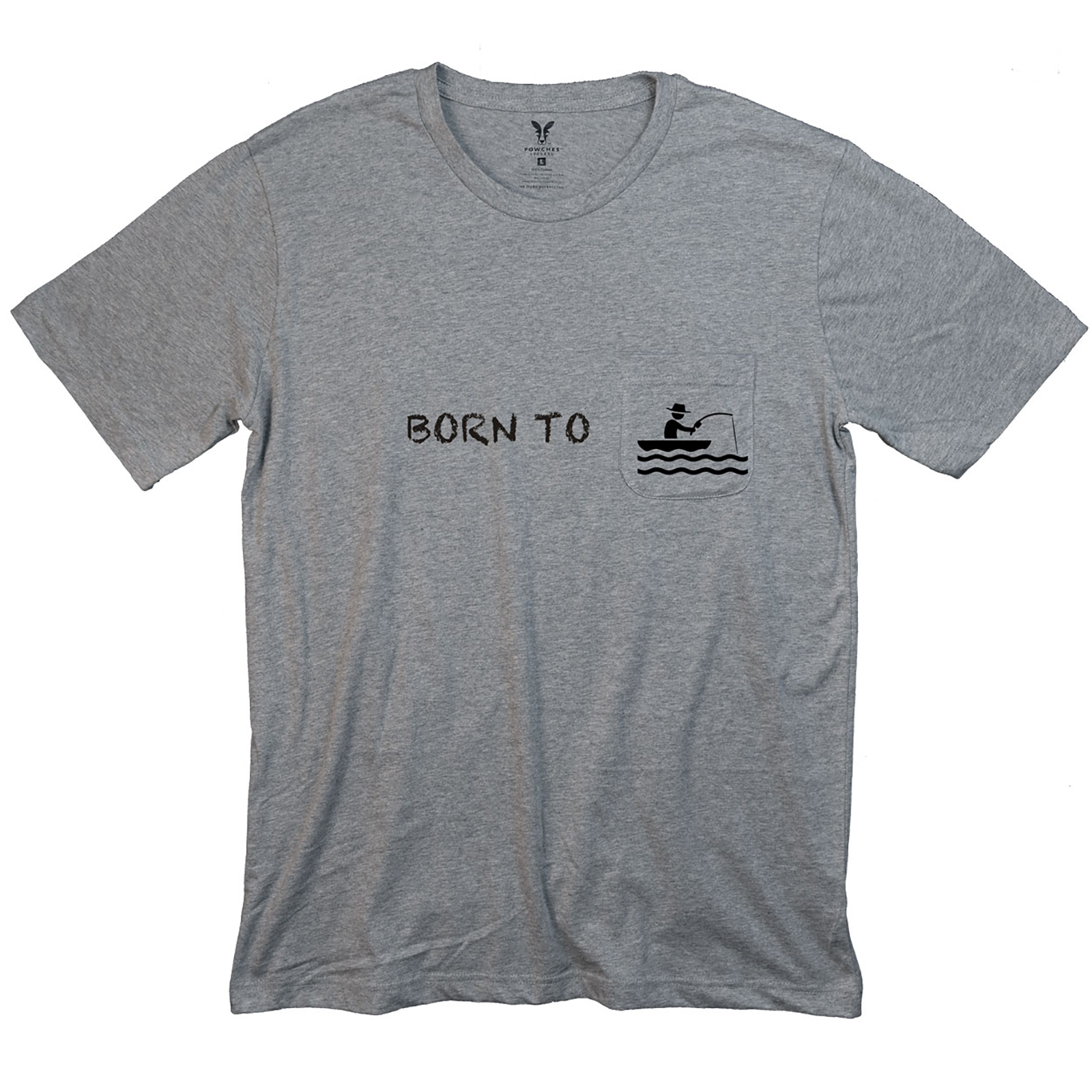 Born to Fish Mens Pocket T-Shirt
