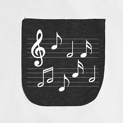 Musical Notes Pocket T-Shirt PT311322X