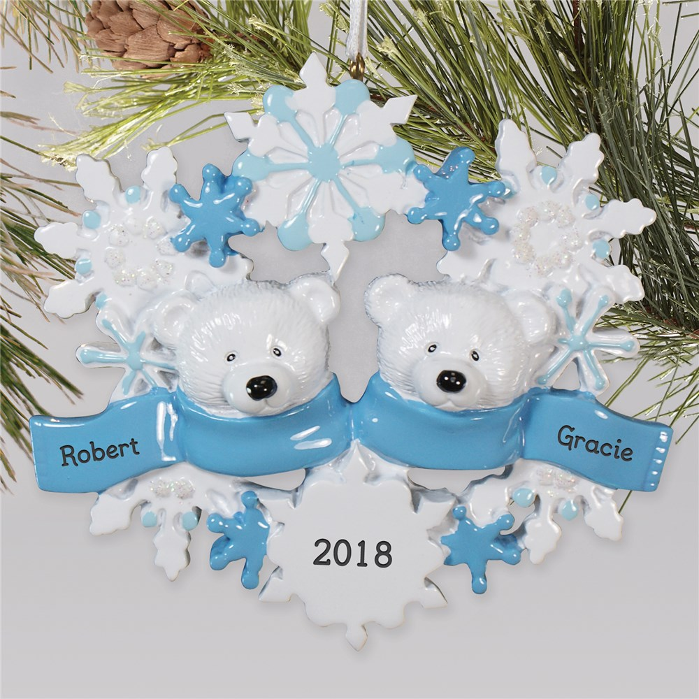 Personalized Polar Bear Family Ornament 87214X