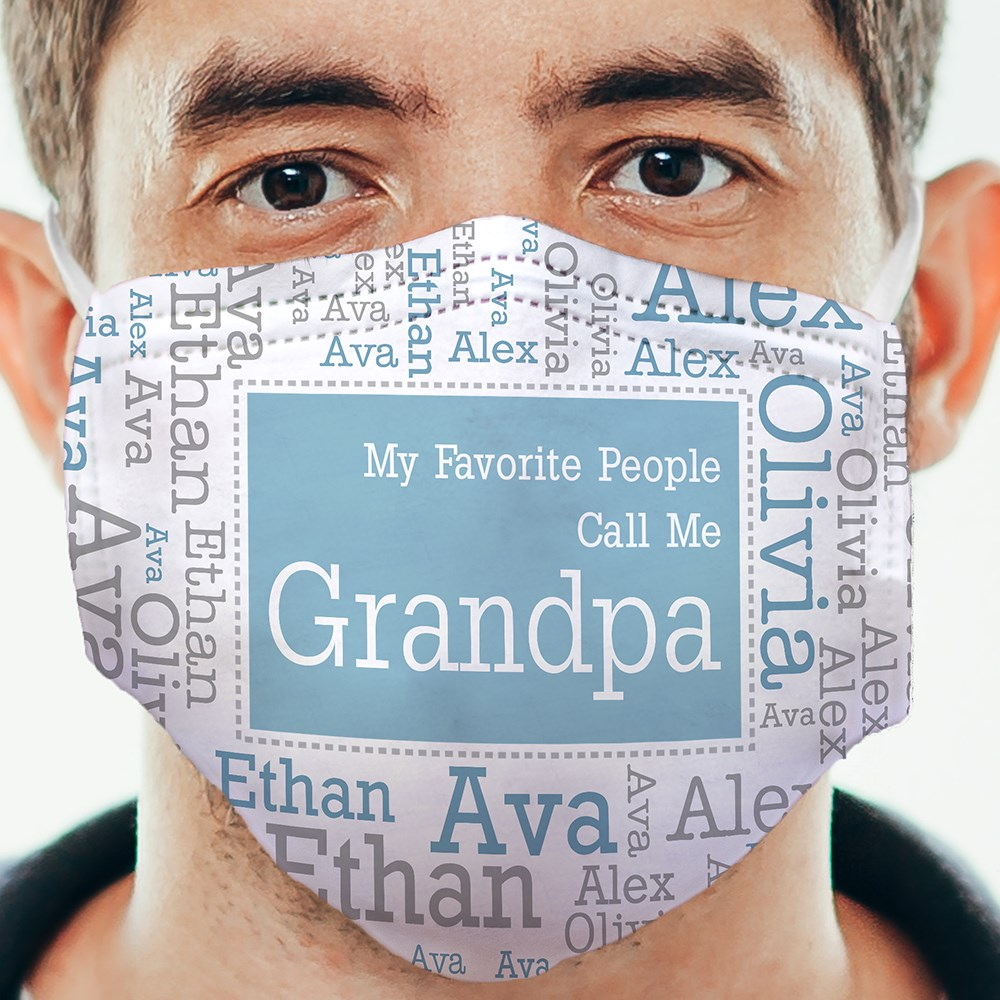 Personalized Favorite People Word-Art Face Mask