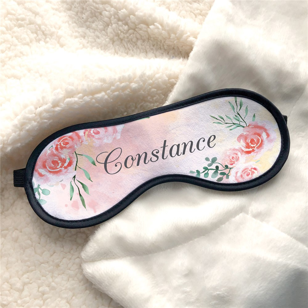 Personalized Eye Mask | Floral Pattern Sleep Mask