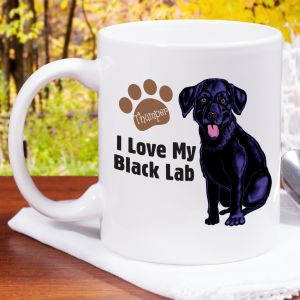 Personalized I Love My Black Lab Mug
