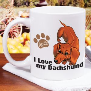 Personalized I Love My Dachshund Mug