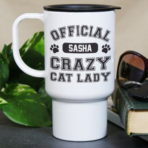 Personalized Crazy Cat Lady Mug