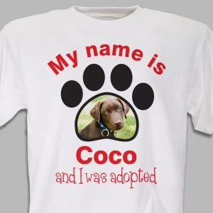 Personalized Adopted Pet Photo T-Shirt