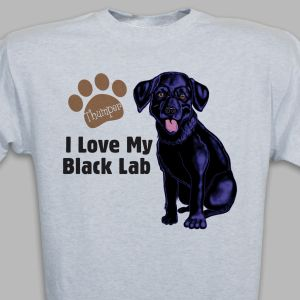 Personalized I Love My Black Lab T-Shirt