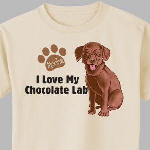 Personalized I Love My Chocolate Lab T-Shirt