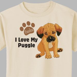 Personalized I Love My Puggle T-Shirt