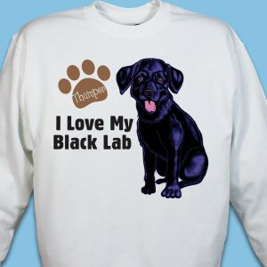 Personalized I Love My Black Lab Sweatshirt