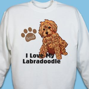 Personalized I Love My Labradoodle Sweatshirt
