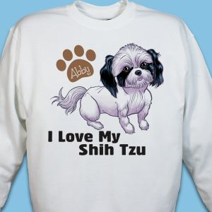 Personalized I Love My Shih Tzu Sweatshirt