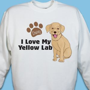 Personalized I Love My Yellow Lab Sweatshirt