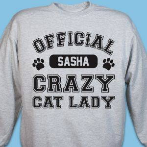Personalized Crazy Cat Lady Sweatshirt