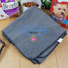Embroidered Pet Collar Blanket